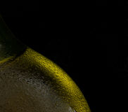 Condensation On Gold Beer Bottle Stock Photo