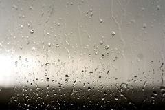 Condensation Rain Droplets on Glass Window Royalty Free Stock Photo