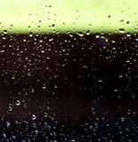 Condensation Rain Droplets on Glass Window Stock Image