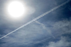 Condensation trail Royalty Free Stock Photography