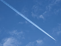 Condensation trail Royalty Free Stock Images