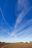 Condensation trails Stock Photos