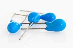 Condensatori di tantalio Immagini Stock