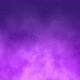 Condensazione porpora della pioggia su vetro illustrazione vettoriale