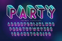 Condensed display font popart design, alphabet, letters royalty free illustration