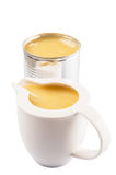 Condensed Milk In Tin Can And Milk Container II Royalty Free Stock Photography