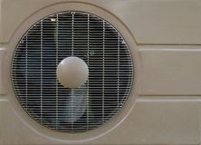 Condenser fan air. Through the use of old rust Royalty Free Stock Photos