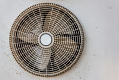 Condenser fan and old rust Royalty Free Stock Photos