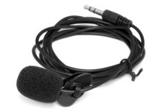 Condenser lavalier tie clip microphone royalty free stock images