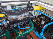 Condenser in the machine room of historic steam pumping station Royalty Free Stock Images