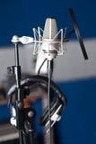 Condenser microphone, closeup shot. Stock Photo