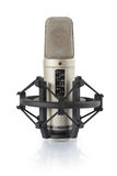 Condenser microphone in holder Royalty Free Stock Images