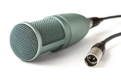 Condenser microphone  on a white Royalty Free Stock Image
