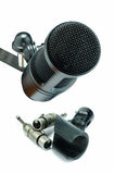 Condenser microphone and xlr connector Stock Images