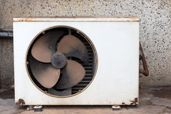 Condenser unit air old Stock Photography