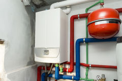 Condensing boiler gas Royalty Free Stock Photography
