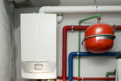 Condensing boiler gas Royalty Free Stock Image