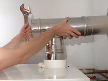 Condensing boiler ventilation Royalty Free Stock Images