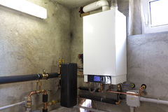 Condensing gas boiler Stock Image