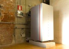 Condensing gas boiler Stock Photos