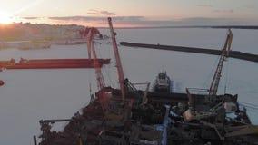 Condição de navios logísticos, tiro aéreo do inverno filme