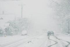 Condições de condução perigosas Fotografia de Stock
