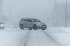 Condições de estrada tempestade 3-14-2017 - nem do inverno de easter do ` Foto de Stock