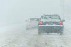 Condições de estrada tempestade 3-14-2017 - nem do inverno de easter do ` Foto de Stock Royalty Free