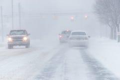 Condições de estrada tempestade 3-14-2017 - nem do inverno de easter do ` Imagem de Stock