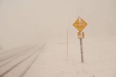 Condições do blizzard Foto de Stock