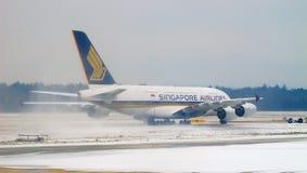 Condições do mau tempo no aeroporto de Zurique Fotografia de Stock Royalty Free