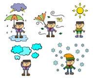 Condições meteorológicas ilustração do vetor
