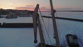 Condición de naves logísticas, tiroteo aéreo del invierno almacen de metraje de vídeo