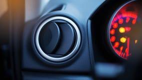 Condición del aire en el panel moderno del coche imagen de archivo libre de regalías