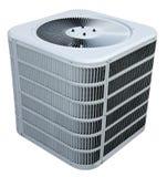 Condicionador de ar central da C.A., unidade refrigerando isolada Fotos de Stock Royalty Free