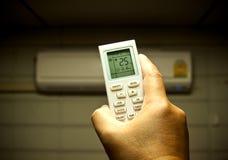 Condicionador de ar de controle remoto Imagem de Stock Royalty Free