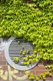 Condicionador de ar verde Foto de Stock
