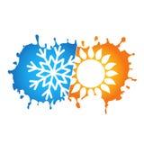 Condicionamento de ar e projeto do símbolo da ventilação ilustração stock