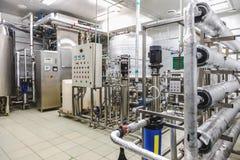 Condicionamiento del agua o sitio del destilation Foto de archivo libre de regalías