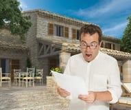 Condiciones aterrorizantes de la hipoteca imagenes de archivo