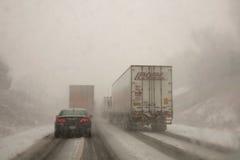 Condiciones de conducción del invierno Fotos de archivo