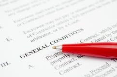 Condiciones generales Fotografía de archivo libre de regalías