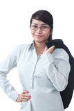 Condifent businesswoman Stock Image