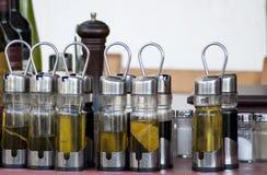 Condiment установил в бутылки Стоковые Изображения