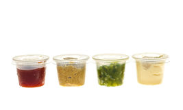 Condiment containers Royalty Free Stock Images