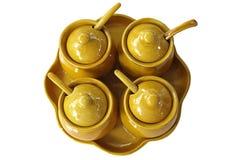 Condiment w ceramicznej filiżance Fotografia Royalty Free