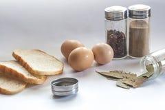 Condimento del pane nella cucina Fotografia Stock Libera da Diritti