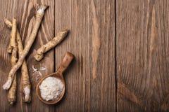Condimento del rábano picante rallado Imagen de archivo libre de regalías
