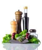 Condimento dell'alimento sul bianco Immagine Stock