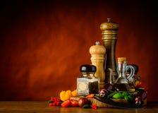 Condimento, erbe e spezie Fotografie Stock